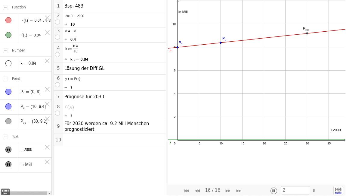 Bsp. 483 Lineares Wachstumsmodell (Befölkerungswachstum) tm 8.KL