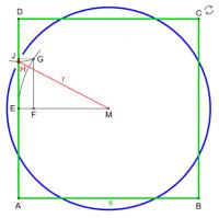 Transformation Quadrat in Kreis