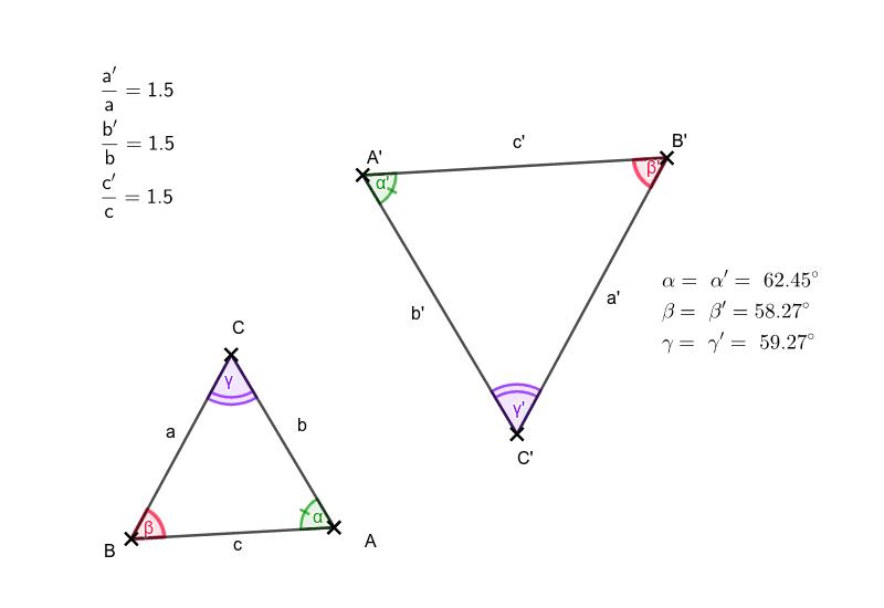 Dva trojúhelníky na obrázku si jsou podobné