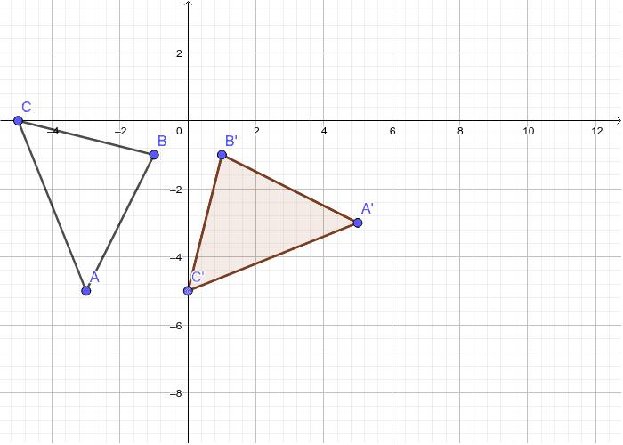A'(5,-3) B'(1,-1) C'(0,-5)
