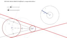 Két kör közös külső érintőinek a megszerkesztése