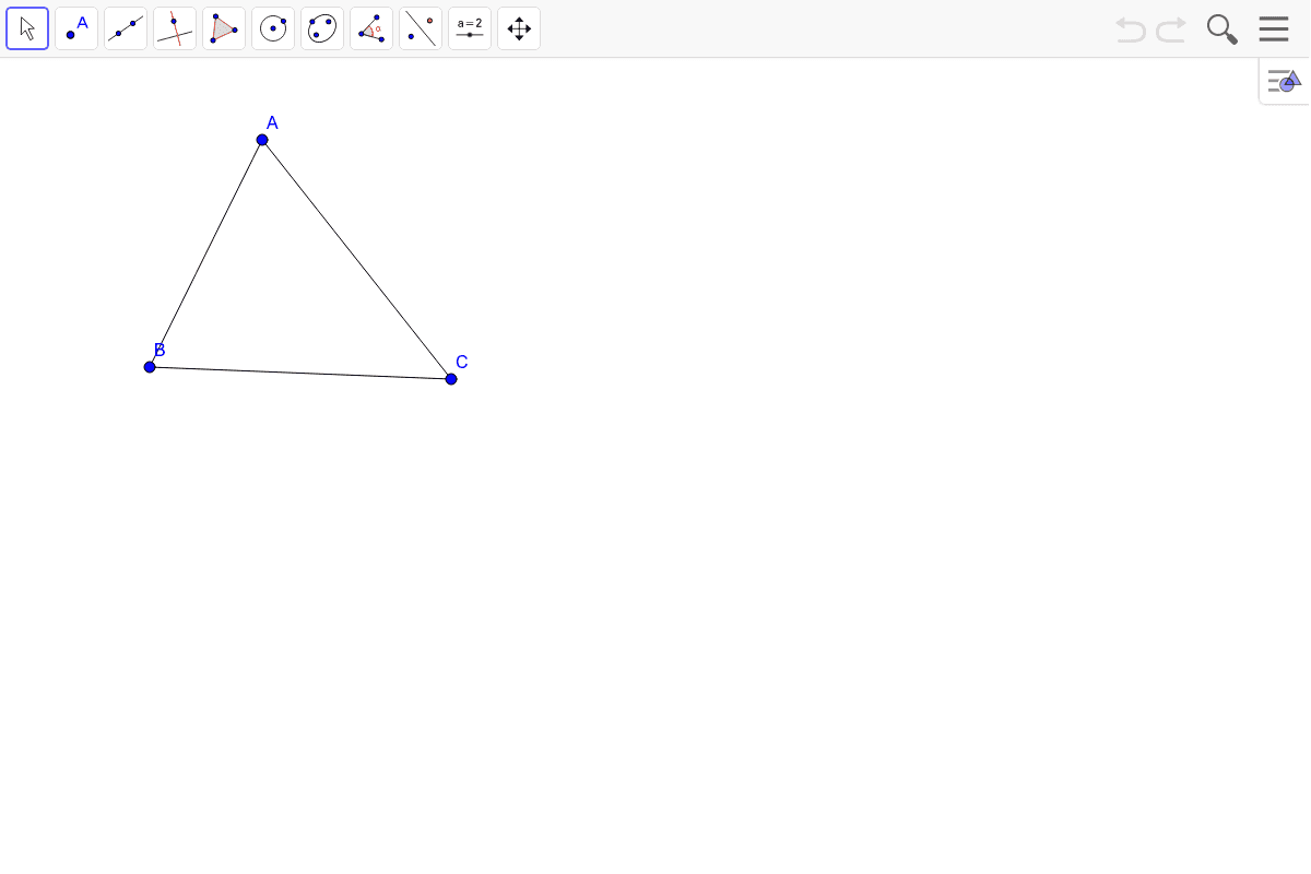 2) Bisect each of the angles.
