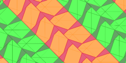 Pythagorean Theorem by Tessellation # 68 Tiling