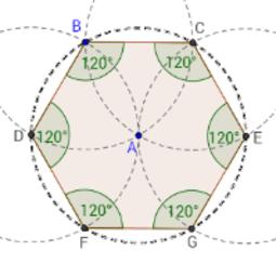 Constructie van een regelmatige zeshoek