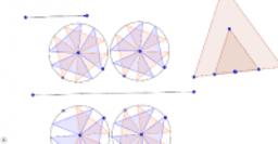 Thefinished pinwheel