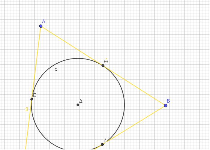 Κύκλος εγγεγραμμένος σε τρίγωνο Press Enter to start activity