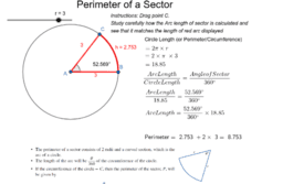 Measurement - Perimeter of an Arc of a Circle