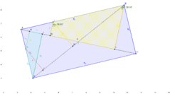Rectangle and perpendiculars to diagonals