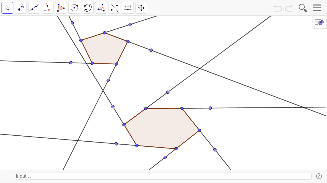 Find the measure of each exterior angle of the two polygons.