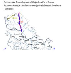 Merenje dužine reke na geografskoj karti pomoću GeoGebre