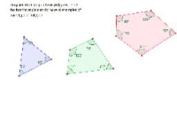 Polygon interior angle sum patterns.