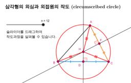 삼각형의 외심과 외접원의 작도