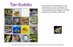 Tier-Sudoku (inkl. Feedback)
