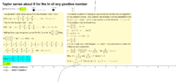 Taylor series about 0 for the ln of any positive number