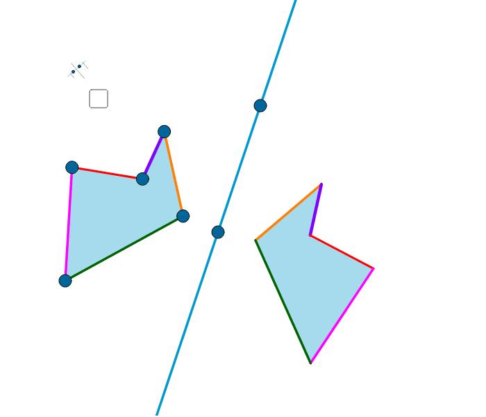 Simetría respecto dunha recta Press Enter to start activity