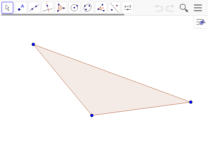 Create a scale drawing of the triangle below with a scale factor of r = 1/4.