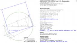 SQUARING THE CIRCLE von S. A. Ramanujan  (Nachkonstruktion)