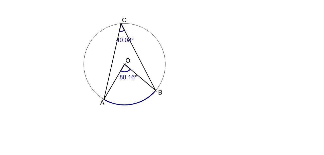 """Angles inscrit et au centre interceptant le même arc de cercle dans un même cerlce Tapez """"Entrée"""" pour démarrer l'activité"""