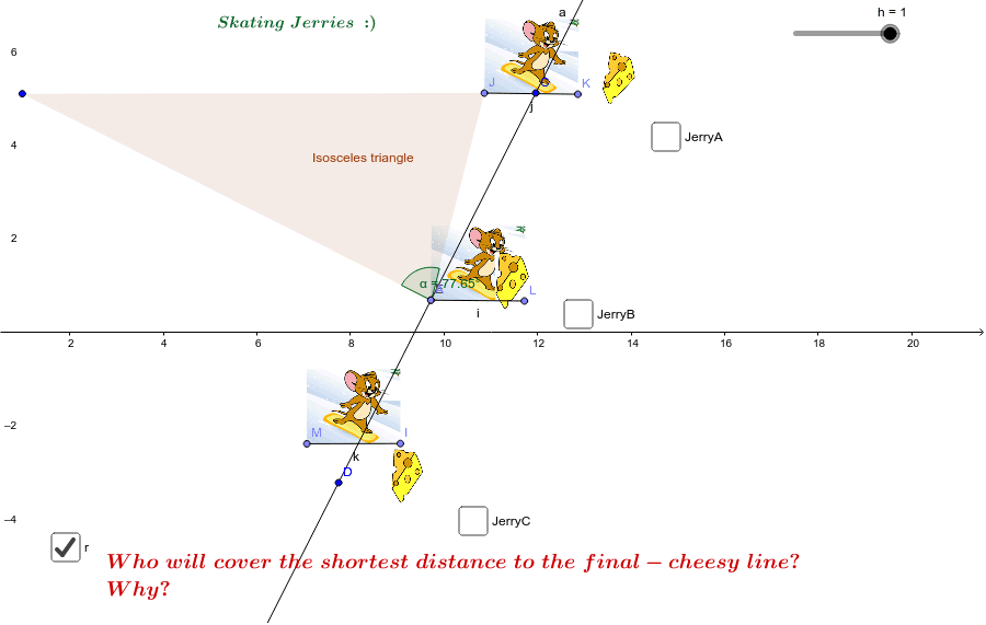 Distance between point and a line Press Enter to start activity
