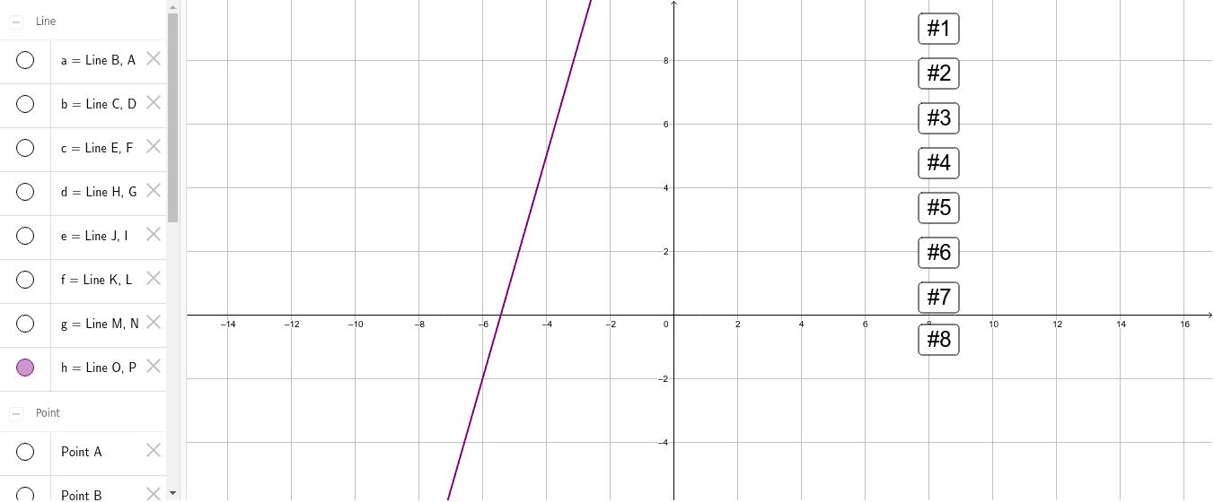 """Détermine l'équation de chaque droite. Tapez """"Entrée"""" pour démarrer l'activité"""