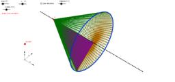 Rotation of a triangle around a side