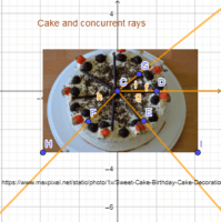 Cake and concurrent rays - Daria