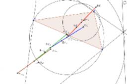 傍心三角形のオイラー線