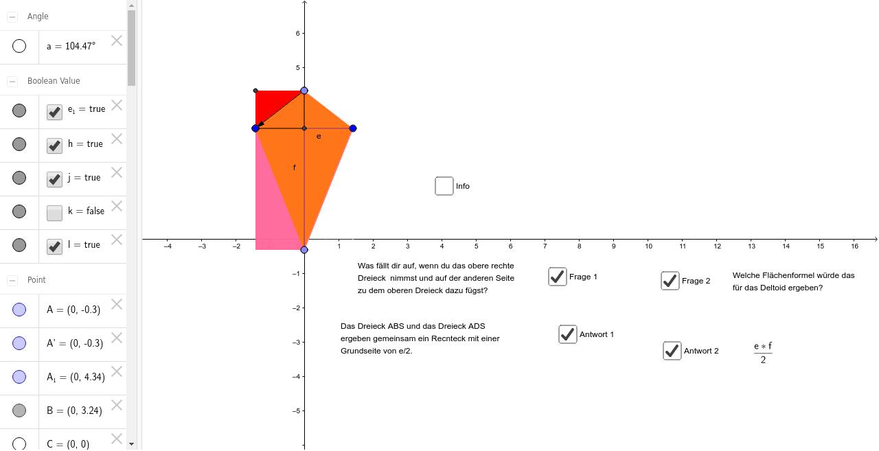 Flächenformel Deltoid