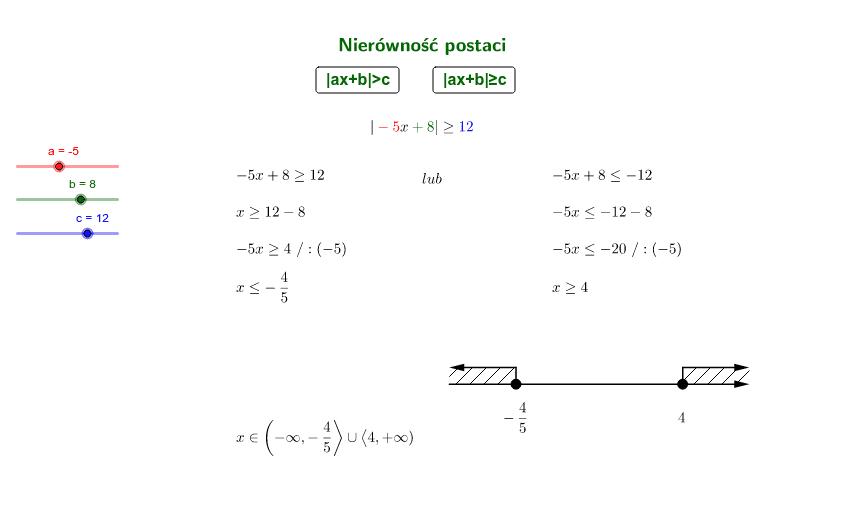 Rozwiązanie algebraiczne