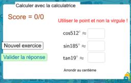 Trigonométrie et calculatrice