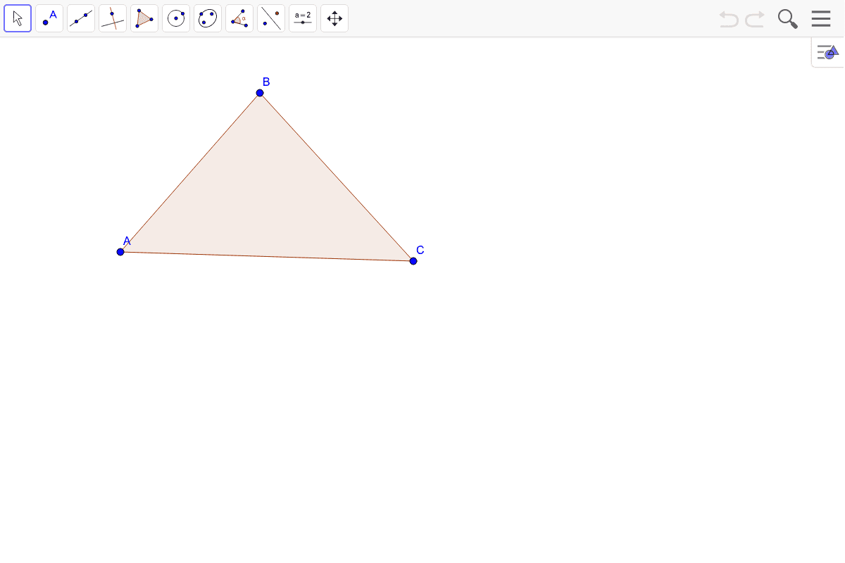 4) Construct the centroid of the triangle.