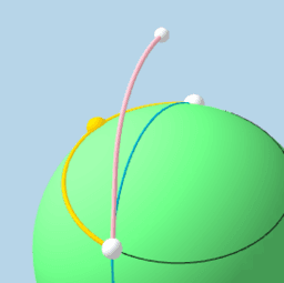 Shortest Path Between 2 Points on a Sphere