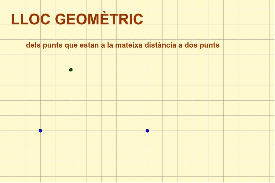 Mou el punt verd i troba els punts que compleixen la condició