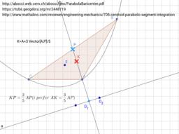 Geometric Centroid of a Parabolic Segment