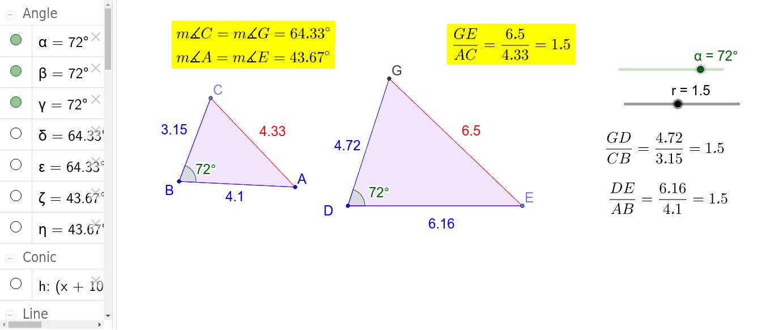 SAS Similarity Theorem Demonstration