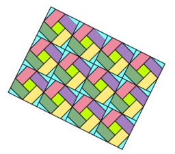 Pythagorean Theorem by Tessellation # 83 Tiling