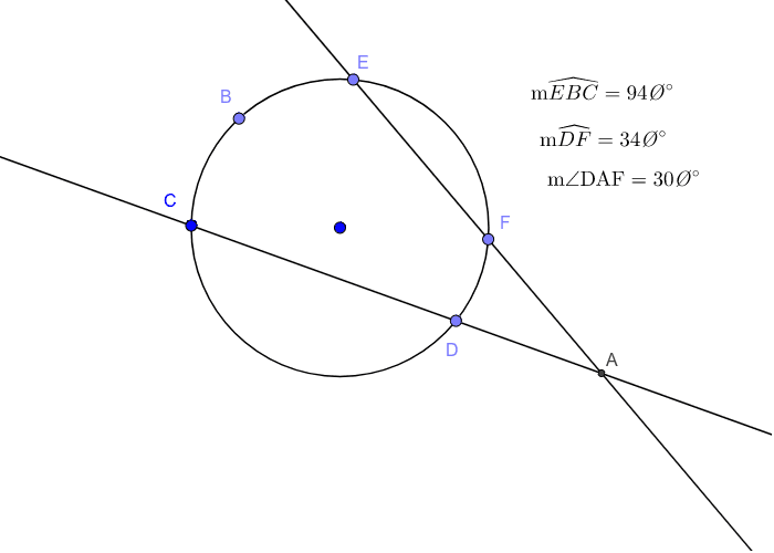 Secant-Secant Angle Relationships Outside the Circle Press Enter to start activity