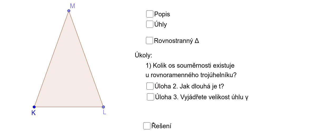 Rovnoramenný trojúhelník - vlastnosti