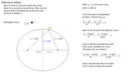 Defining an Ellipse