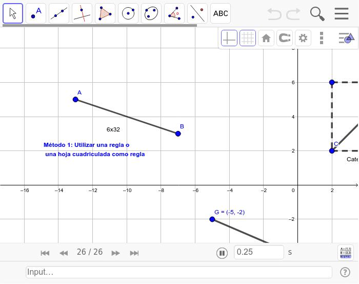 Distancia entre dos puntos  Press Enter to start activity