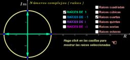 Números complejos ( raíces de las unidades )