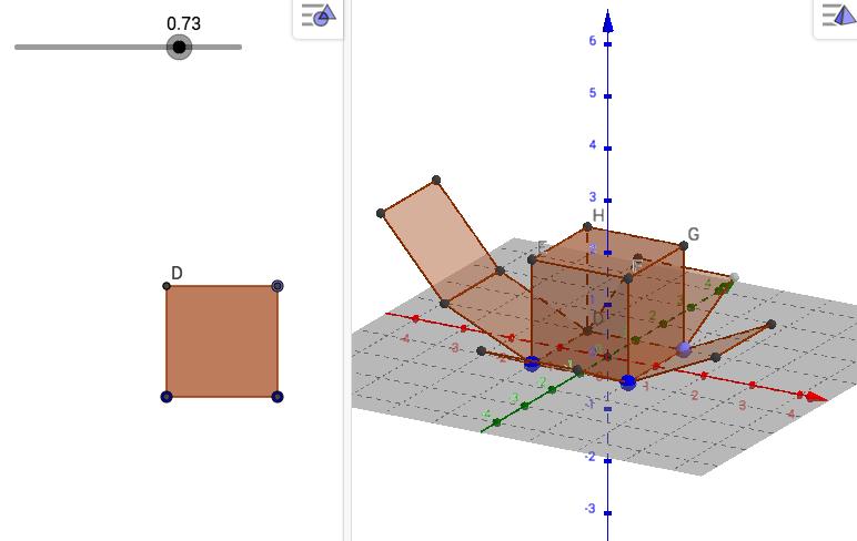 Aquest és l'aspecte que tindrà el desplegament del cub. Només és l'un dels 11 possibles.