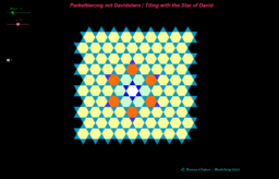 Parkettierung mit Davidstern / Tiling with the Star of David