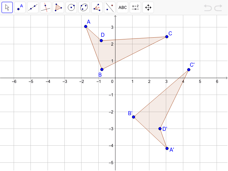 Convince me the line of reflection is y=2/3 x-1.