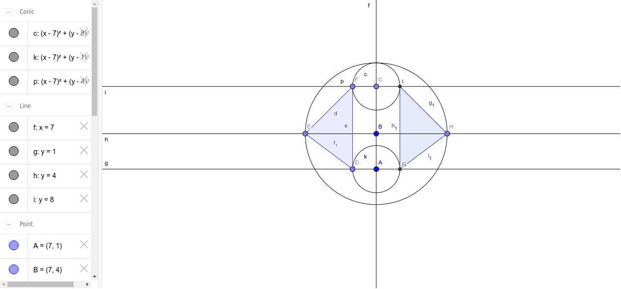 simmetria assiale senza l'utilizzo dell'icona della simmetria assiale