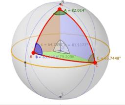 Teorema del seno en triángulos esféricos