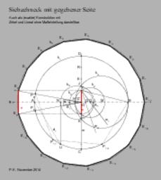 Siebzehneck mit gegebener Seite (Heptadekagon, 17-Eck)