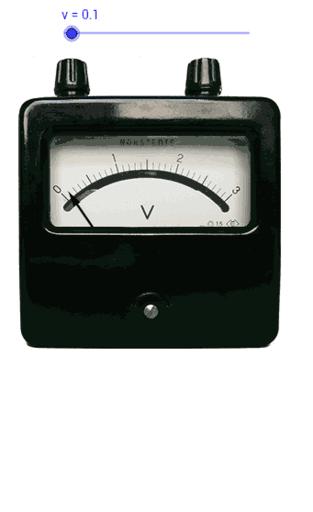 Analog Voltmeter Geogebra