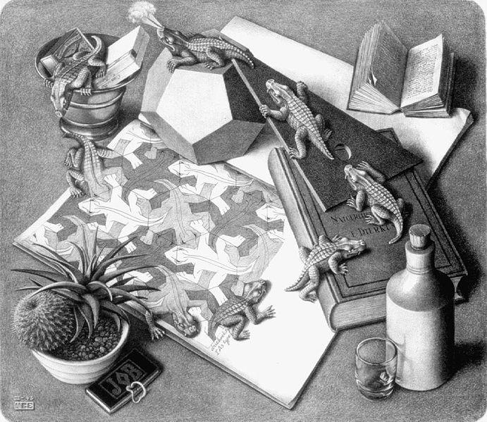 Reptiles, M.C.Escher, 1943, lithograph