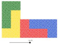 Rep-Tile en L à 4 pièces